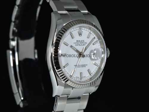 OYSTER PERPETUAL DATEJUST 36 mm Ref. 116234 Quadrante bianco
